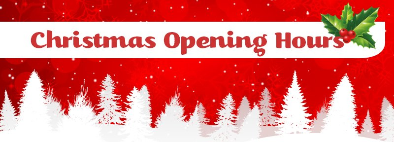 Christmas Opening Hours.Our Christmas Opening Hours