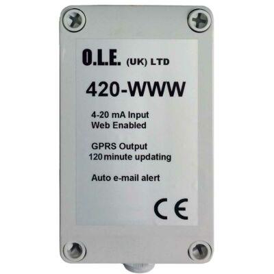 O.L.E. tank gauge web logger