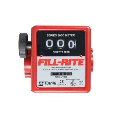 "Fill-Rite 807 1"" Flow Meter - 3 Digit"