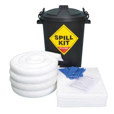80 Litre Bin Spill Kit - Double Weight Pads