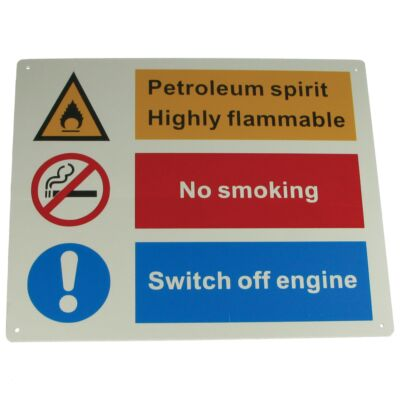 Petroleum Hazard Sign - Rigid Large