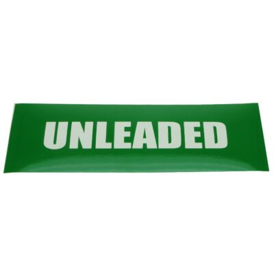 Unleaded Petrol Label