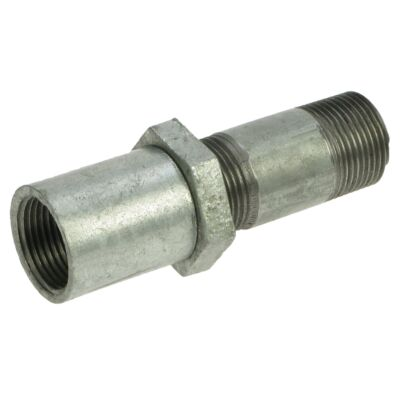 "Galvanised Fitting -  Connector - 1½"" M x F BSPT"