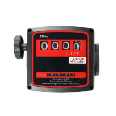 """Hytek Quality 1"""" Flow Meter for Diesel - 4 Digit - Standard"""