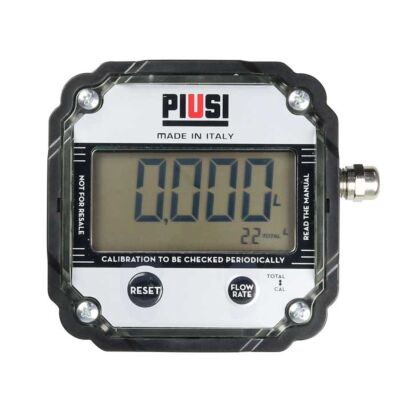 "1"" Oval Gear Pulse Meter Piusi - With Electronic Display"