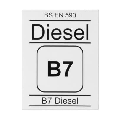 B7 diesel dispensing badge, BS EN590