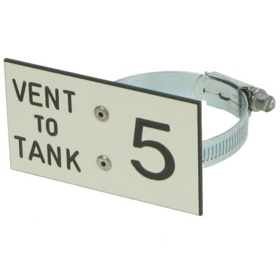 Vent to Tank Pipe Label (1 to 6)
