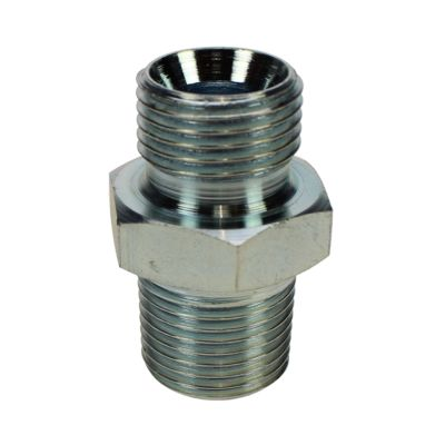 """½"""" M parallel (cone) - ½"""" M taper, plated"""