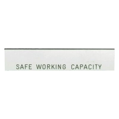 Safe Working Capacity Label - Blank