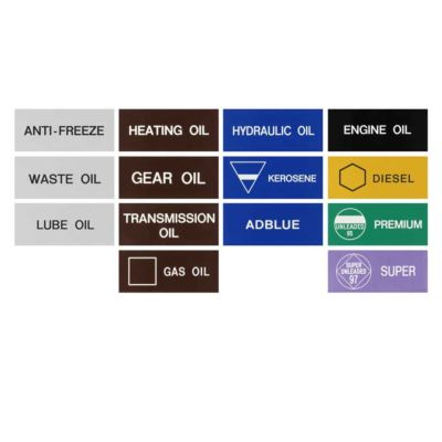 Product Labels for Gas Oil, Diesel, AdBlue®, Premium unleaded, Kerosene & many more